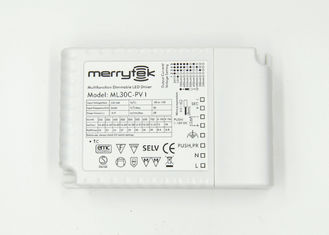Multi Output Current Low Voltage Możliwość ściemniania 30W LED Driver 1 - 10V dla LED Tube